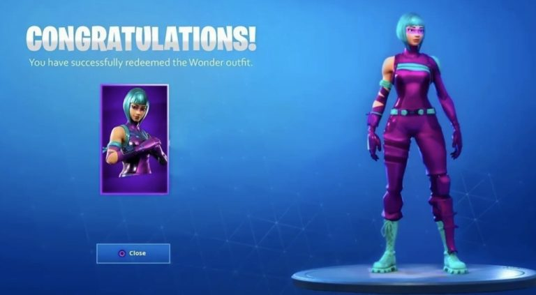 free fortnite skins - wonder redeemed